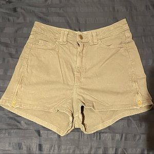 Army Green American Apparel High Waisted Shorts